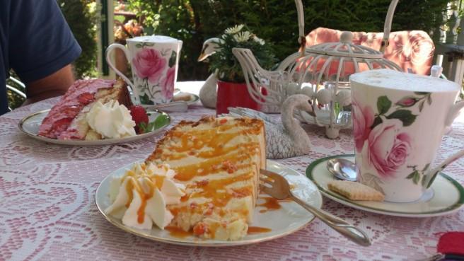 Kuchen im kleinen Cafe