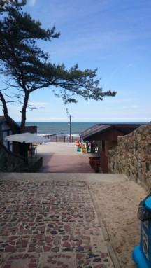 zum Strand
