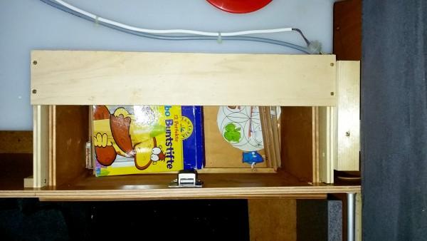 Schublade in der Sitzbank