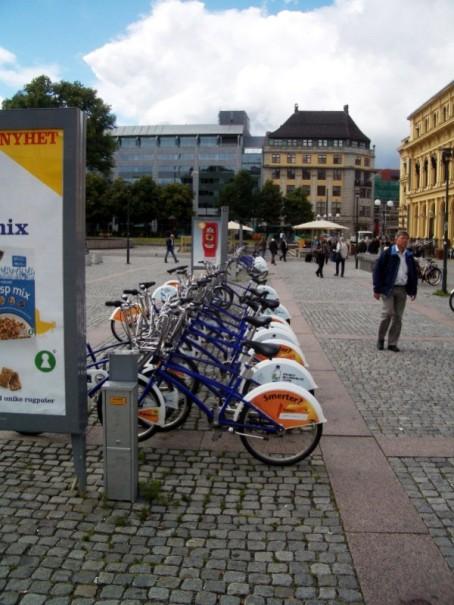 Rathausmarkt mit Fahrrädern