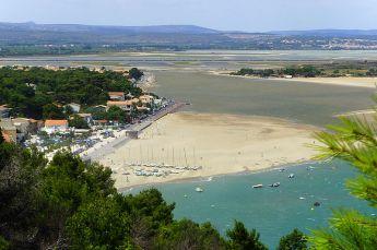 La Franqui zwischen Salzsee und Meer gelegen