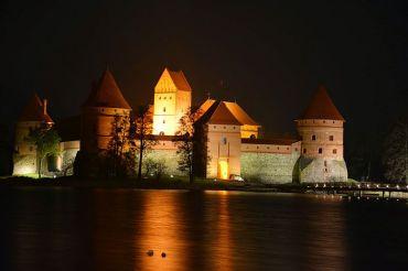 Trakai_Burg_bei_Nacht