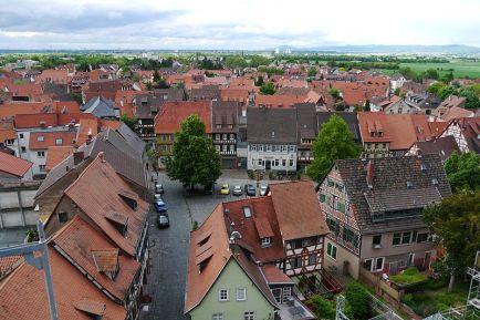 Marktplatz aus der Höhe von St. Gallus