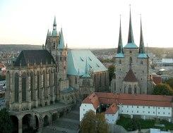 Erfurter Dom und Severikirche am Domplatz, Wahrzeichen von Erfurt