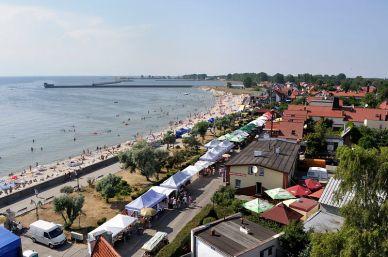 Strandpartie der Stadt