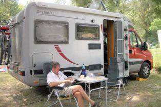 Fontaine-de-Vaucluse auf dem Campingplatz