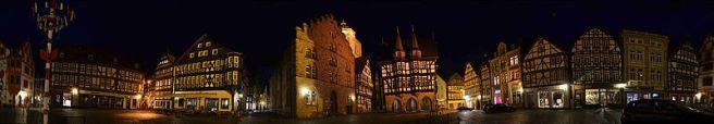 Alsfeld Marktplatz bei Nacht