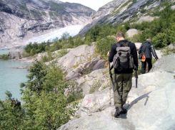 Jostedalsbreen zum Gletscher 7