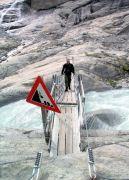 Jostedalsbreen Brücke über den Gletscher