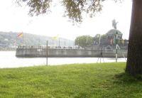 Koblenz Blick vom CP aufs Deutsche Eck