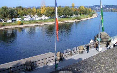 Koblenz CP vom Deutschen Eck aus