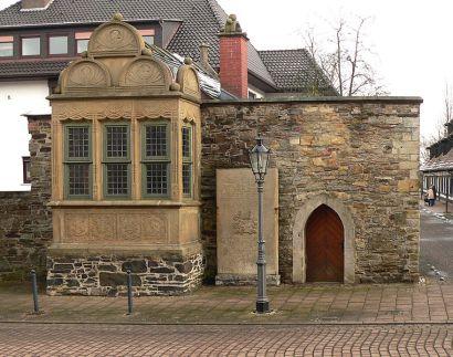 Rinteln Archivhäuschen vor dem Münchhausenhof