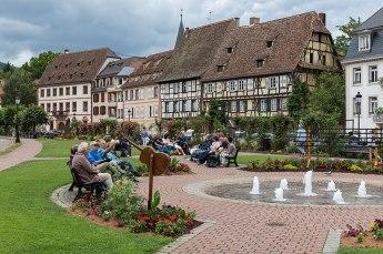 Wissembourg Grünanlage und Häuser am Quay Anselmann