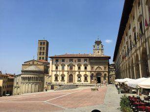 Arezzo Piazza Grande Kirche Santa Maria della Pieve