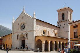 Norcia Basilika San Benedetto eingestürzt am 30. Oktober 2016 (Aufnahme von 2006)