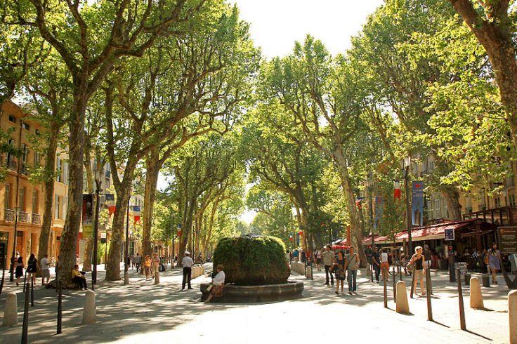 Aix Prachtmeile Cours Mirabeau