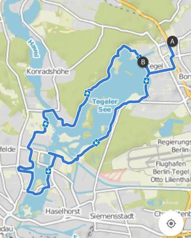 Berlin Radtour um den Tegeler See