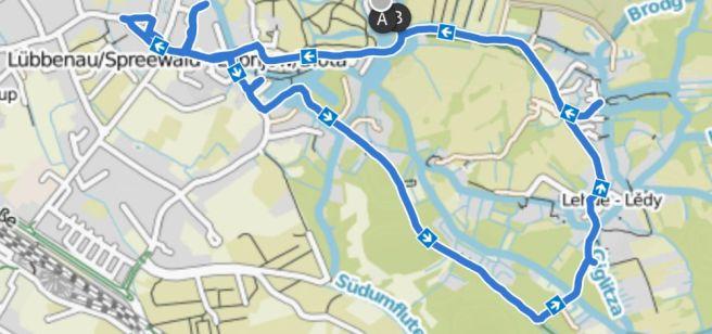 Lübbenau kleine Radtour ins Dorf und nach Lehde