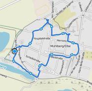 Mühlberg Radtour durch die Stadt