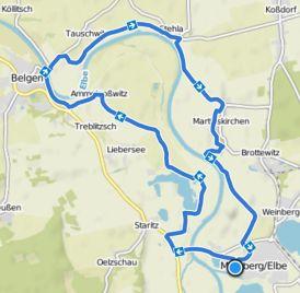 Mühlberg Radtour nach Belgern