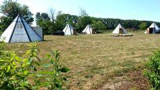 Bertingen Indianer Tipi Dorf auf dem Campingplatz