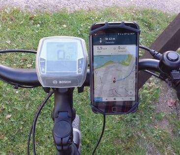 E-Bike Handyhalter am Rad