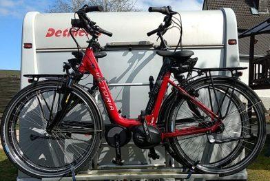 E-Bikes auf dem Träger