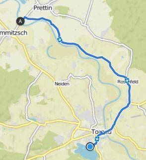 Torgau Radtour von der Elbfähre zurück