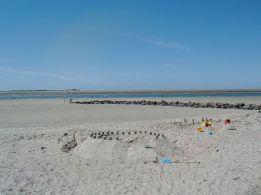 Föhr Strand vonUtersum mit Blick auf die Nordspitze von Amrum
