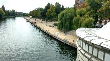 Brandenburg Salzhofufer von der Jahrtausendbrücke aus