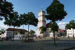 Neustrelitz Marktplatz mit Stadtkirche