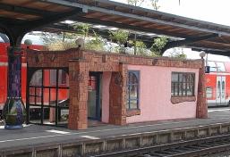 Uelzen Hundertwasserbahnhof Bahnsteig