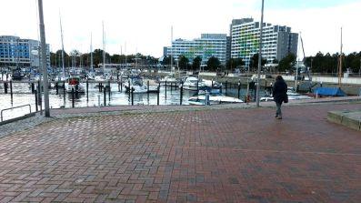 Damp das Hafenbecken