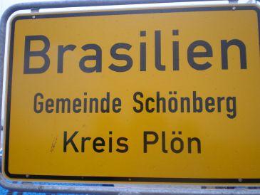 Ortsschild von Brasilien