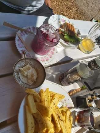 Essen im Strandräuber
