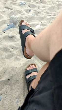 am Strand Langholz