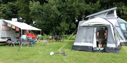 auf dem Campingplatz Hemmelmark