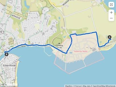 Fahrradtour vom CP nach Eckernförde