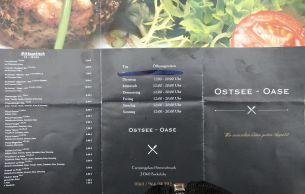 Speisekarte Ostsee-Oase