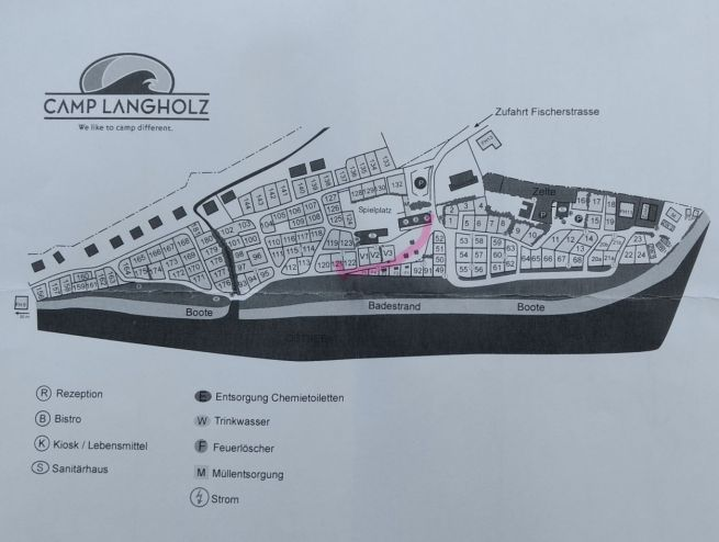 Platzplan Camp Langholz