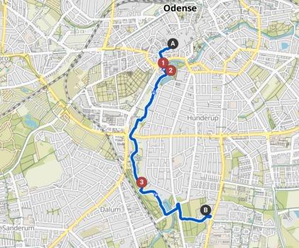 Radtour in die City von Odense