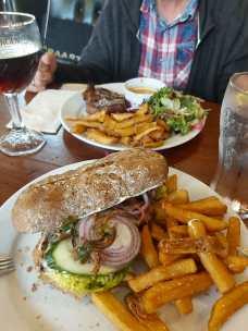 Steak und Sandwich